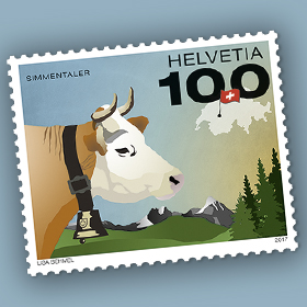 Promoted Swiss Stamp