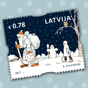 Promoted Latvia Stamp