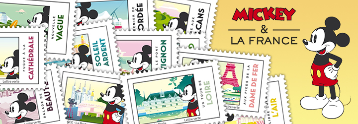 Mickey Mouse in France - Stamp Booklet