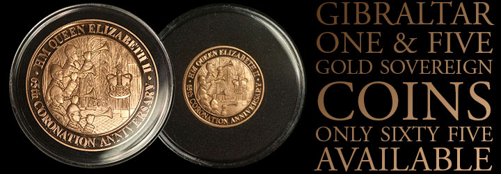 Five Sovereigns - Her Majesty Queen Elizabeth II 65th Anniversary of the Coronation - Gold Coin
