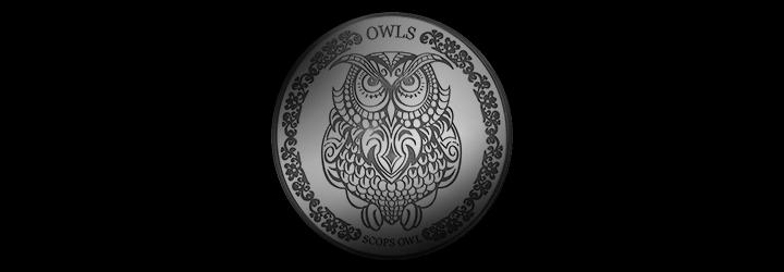 Scops Owl - Silver Coin
