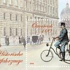 Storico veicolo postale - impiegato delle poste con la bicicletta