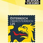 Heraldry Austria - Booklet of 50 - Upper Austrian coat of arms, eagle 1,25
