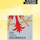 Heraldry Austria - Booklet of 4 - Tyrolean coat of arms, eagle's claw 1,75