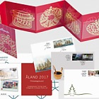 FDC Year Set 2017 + FREE GIFT 4 Golden Christmas Decorations