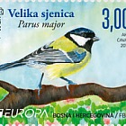 Europa 2019 - National Birds - Parus Major Stamp