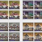 Swiss Railway Stations - (Block of 4 Mint)