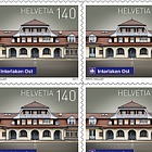 Swiss Railway Stations - (Interlaken Ost Sheetlet Mint)