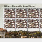 500 Years Bern Cathedral Vaulted Ceiling - (Coat of Arms Sheetlet Mint)