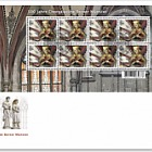 500 Years Bern Cathedral Vaulted Ceiling - (FDC Sheetlet Statue)