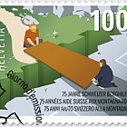75 Years Swiss Mountain Aid - (Stamp CTO)