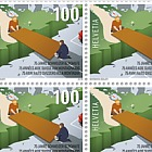 75 Years Swiss Mountain Aid - (Full Sheet Mint)