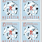 60 Years Swiss League Against Rheumatism - (Block of 4 Mint)