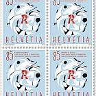 60 Years Swiss League Against Rheumatism - (Block of 4 Mint)