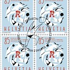 60 Years Swiss League Against Rheumatism - (Block of 4 CTO)