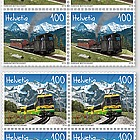 125 Years Schynige Platte Railway and Wengernalp Railway - (Block of 4 Mint)