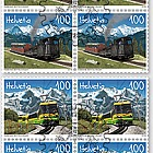 125 Years Schynige Platte Railway and Wengernalp Railway - (Block of 4 CTO)