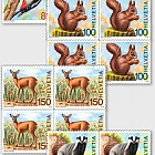 Animals of the Forest - (Block of 4 Mint)