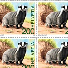 Animals of the Forest - (European Badger Sheetlet Mint)