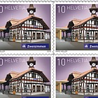 2018 Swiss Railway Stations - (Sheetlet Mint - Zweisimmen)