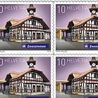 2018 Swiss Railway Stations - (Sheetlet Mint - Zweisimmen)