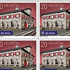 2018 Swiss Railway Stations - (Sheetlet Mint - Alp Grüm)