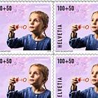 Pro Juventute - Happy Childhood - (Blowing Bubbles Sheetlet Mint)