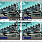 Swiss Railway Stations - (Block of 4 CTO)