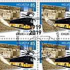 100 Years Postbus Routes - Graubunden Sheet 20 Stamps CTO