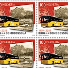 100 Years Postbus Routes - Simplon Sheet 20 Stamps Mint