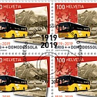100 Years Postbus Routes - Simplon Sheet 20 Stamps CTO