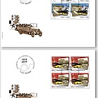 100 Years Postbus Routes - FDC Block of 4