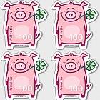 Lucky Pig - Block of 4 Mint