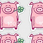 Lucky Pig - Sheetlet 10 Stamps Mint