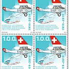 1919–2019 Swiss Air Transport - Block of 4 Mint