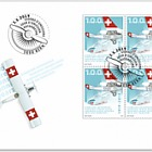 1919–2019 Swiss Air Transport - FDC Block of 4