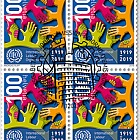 100 Years International Labour Organization (ILO), Geneva - Block of 4 CTO