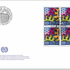 100 Years International Labour Organization (ILO), Geneva - FDC Block of 4
