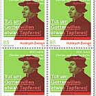 Huldrych Zwingli - 500 Years Reformation in Zurich & Southern Germany - Block of 4 Mint