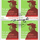 Huldrych Zwingli - 500 Years Reformation in Zurich & Southern Germany - Block of 4 CTO