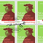 Huldrych Zwingli - 500 Years Reformation in Zurich & Southern Germany -  Sheet of 16 Stamps CTO
