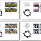 Land Art - FDC Block of 4