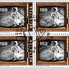 50 Years Manned Moon Landing - Block of 4 CTO