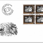 50 Years Manned Moon Landing - FDC Block of 4