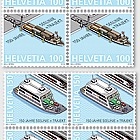 150 Years Lake Line + Train Ferry - Block of 4 Mint