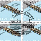 150 Years Lake Line + Train Ferry - Train Ferry - Sheet of 20 Stamps CTO