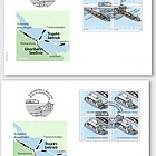 150 Years Lake Line + Train Ferry - FDC Block of 4