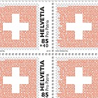 Pro Patria - The Swiss Flag - The Red - Sheet of 20 Stamps Mint
