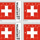Pro Patria - The Swiss Flag - The Proportions - Sheet of 20 Stamps Mint