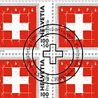 Pro Patria - The Swiss Flag - The Proportions - Sheet of 20 Stamps CTO